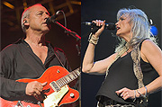 Mark Knopfler & Emmylou Harris close up shots
